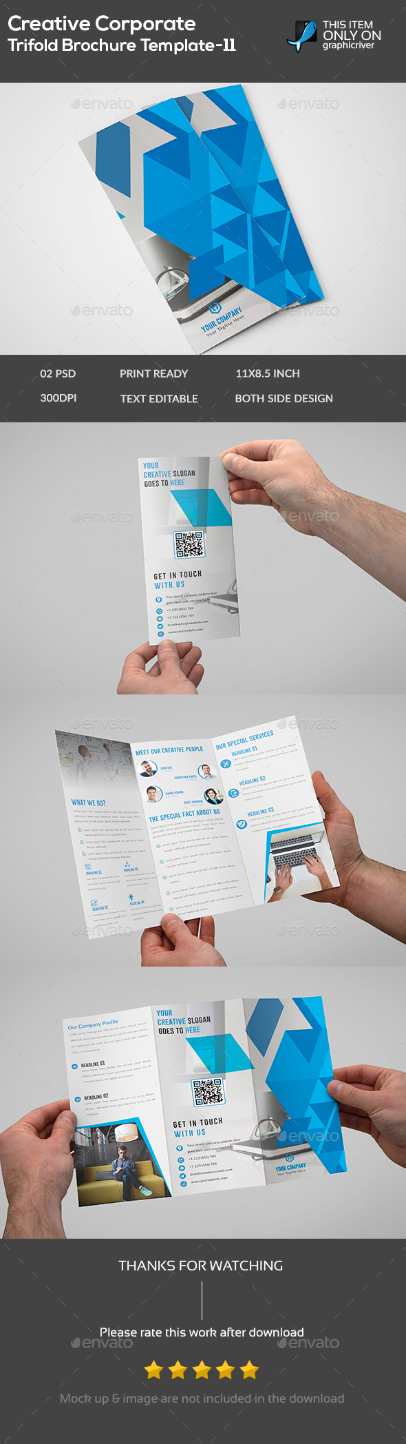 Corporate Brochure Template - Brochures Print Templates
