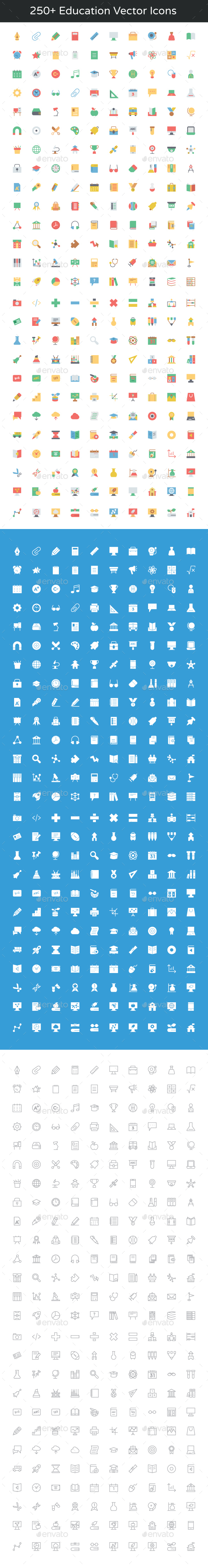 250+ Education Vector Icons - Icons