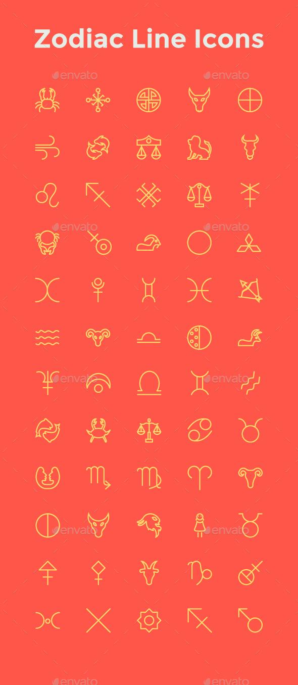 Zodiac Line Icons - Icons