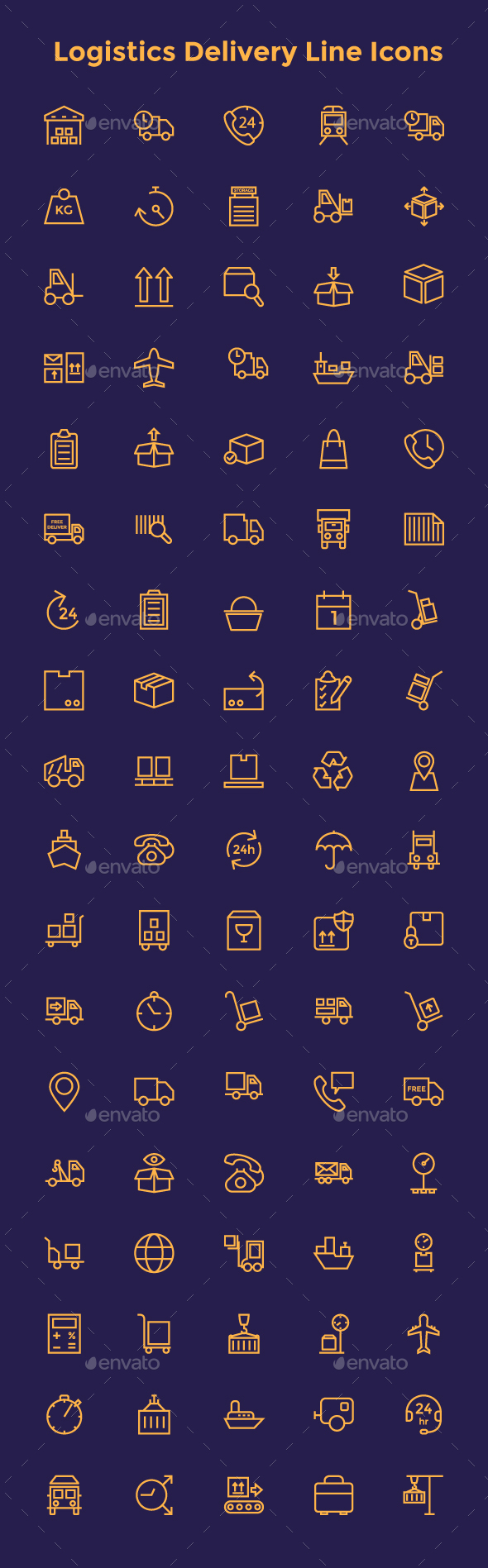 Logistics Delivery Line Icons - Icons