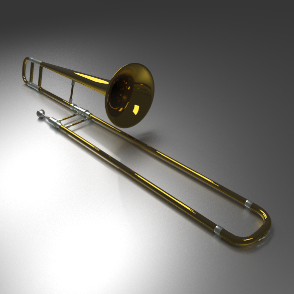 Brass Trombone - 3DOcean Item for Sale