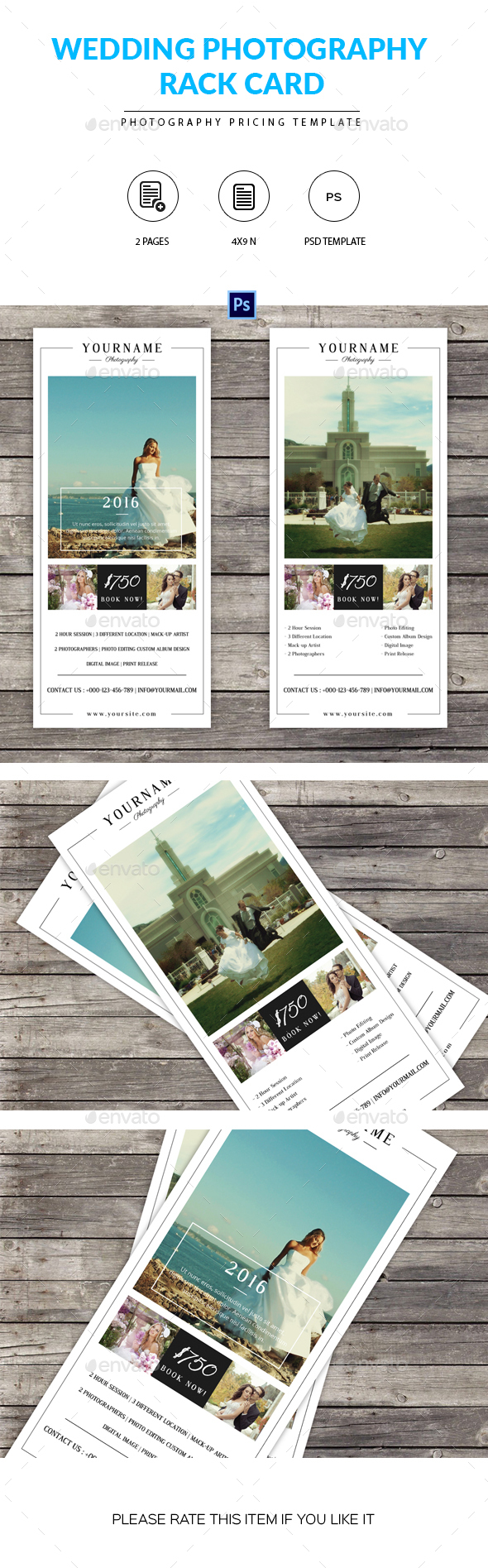Wedding Photography Rack Card Template - Corporate Flyers