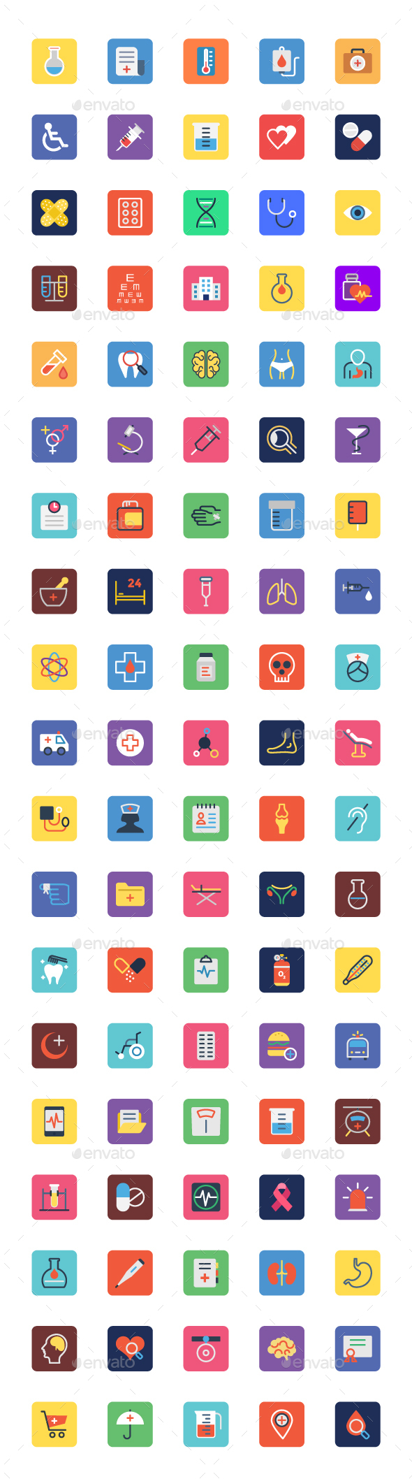 90+ Medical Icons Set - Icons