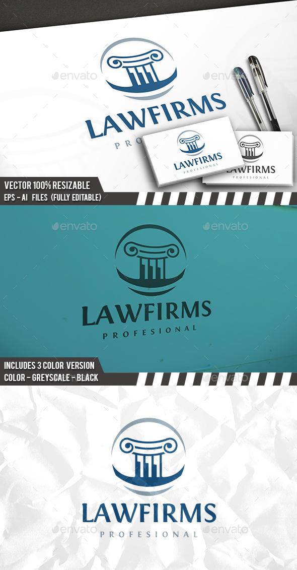Law Circle Logo - Symbols Logo Templates