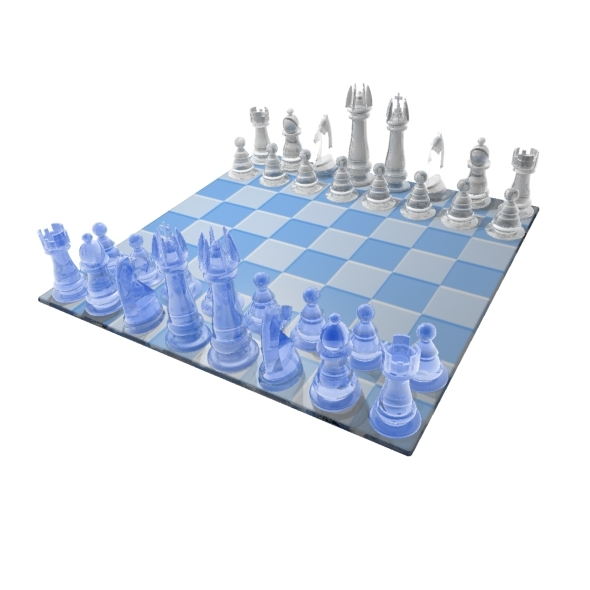 Chess - Blue and White - 3DOcean Item for Sale