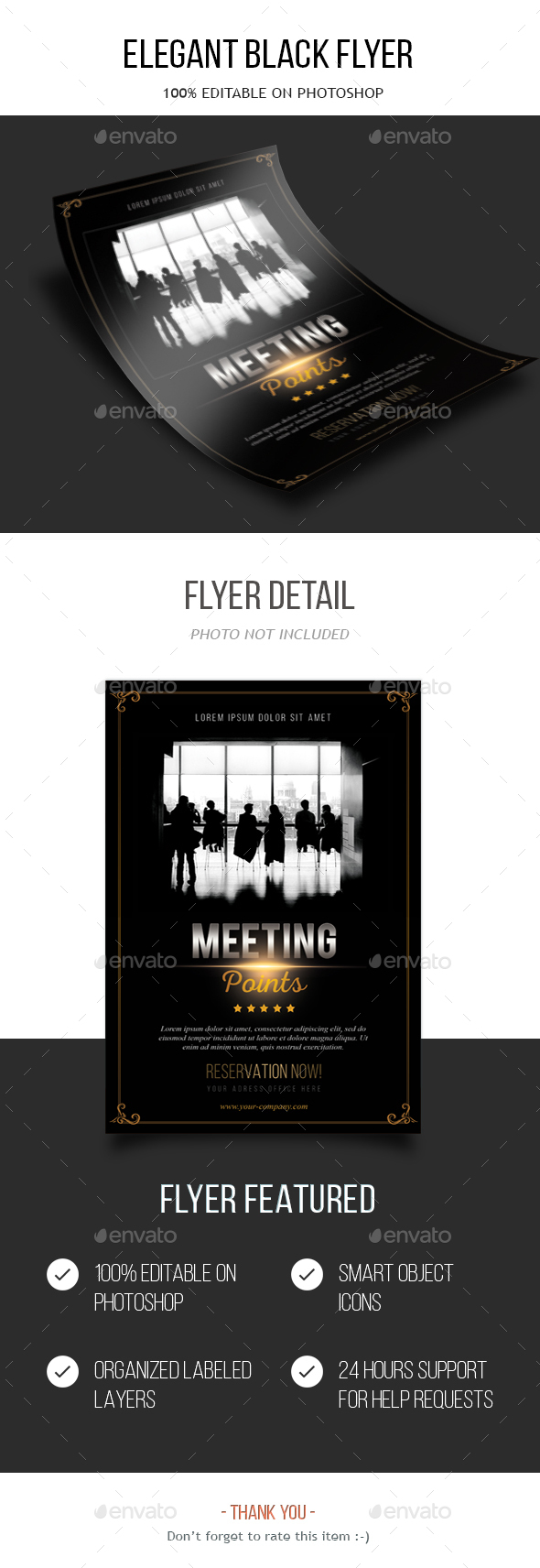 - Elegant Black Flyer - - Restaurant Flyers