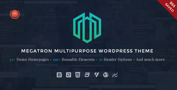 Megatron – Responsive MultiPurpose WordPress Theme