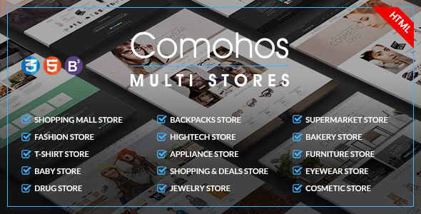 Comohos – MultiPurpose eCommerce HTML5 Template