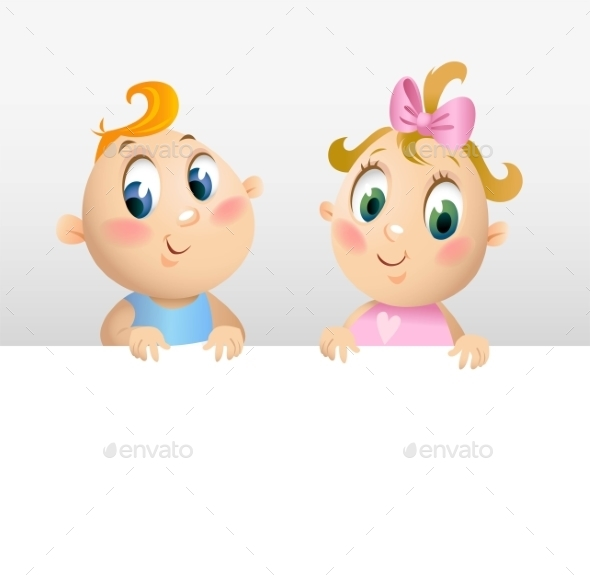 Little Boy and Girl  - People Characters