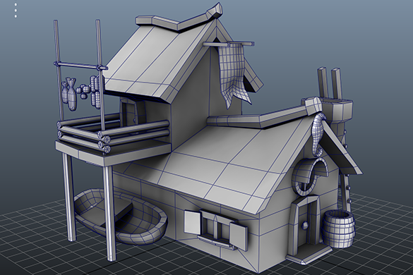 Fisherman House Model1 Fablesalive Game Asset By