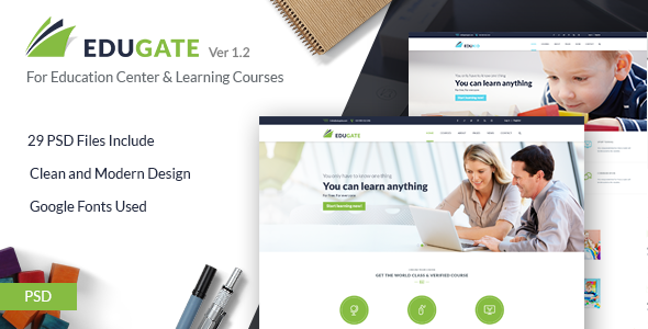 EduGate – Multiconcept Education PSD template
