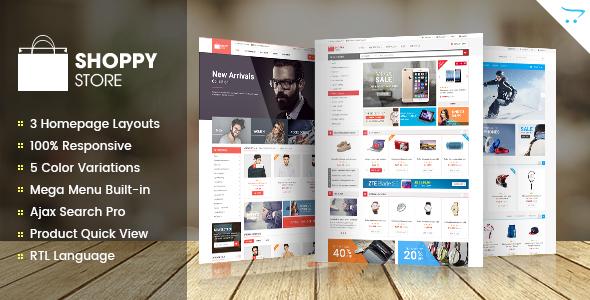 ShoppyStore – Responsive Multipurpose OpenCart Theme