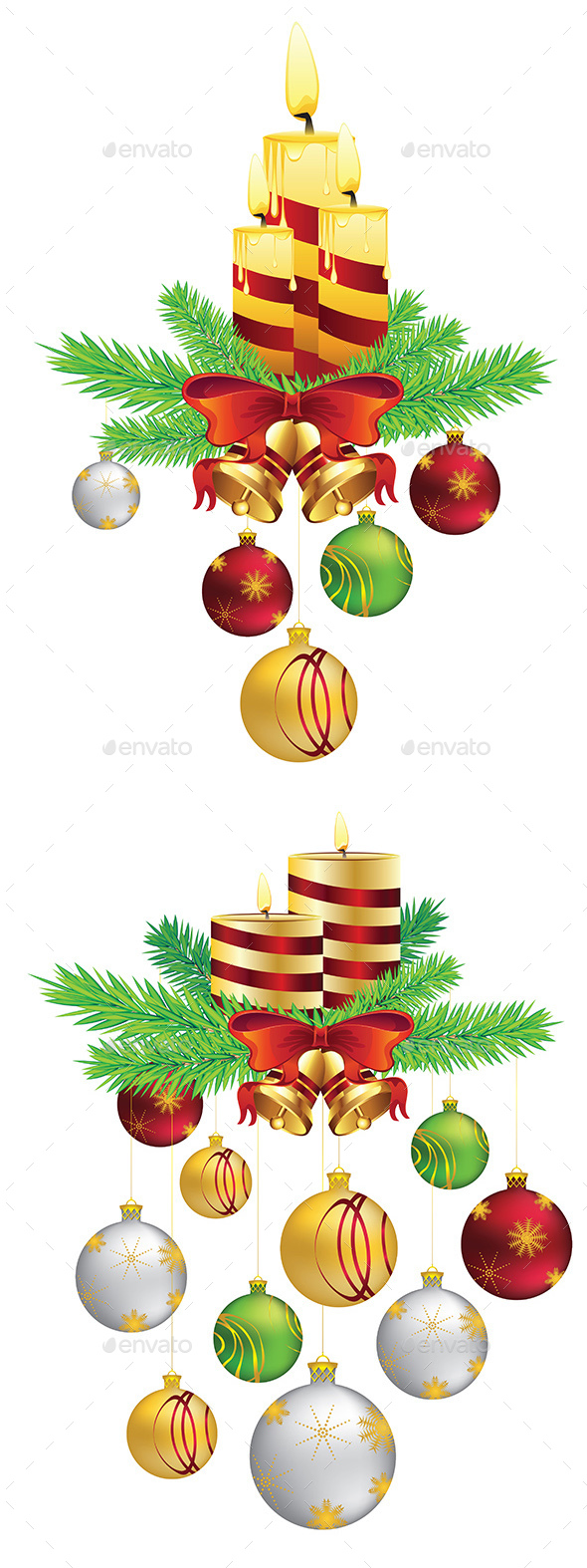 Decorative Christmas Candle - Christmas Seasons/Holidays