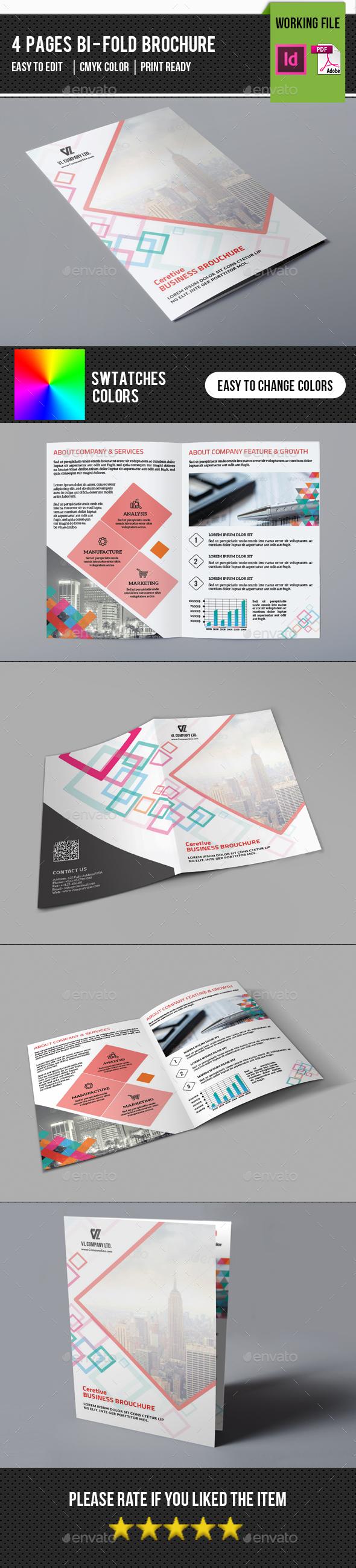 Minimal Corporate Bifold Brochure-V333 - Corporate Brochures