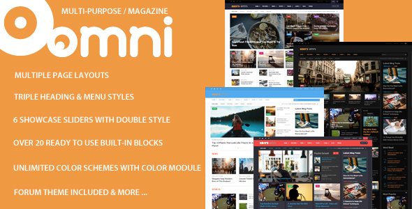 Omni – Multi-purpose Magazine Style Drupal 7 and Drupal 8 Theme