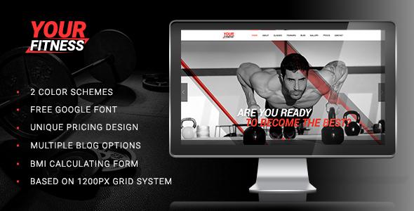 YourFitness — Sport Blog, Fitness Club, Gym Theme