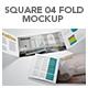 Square 04 Fold Mockup - GraphicRiver Item for Sale