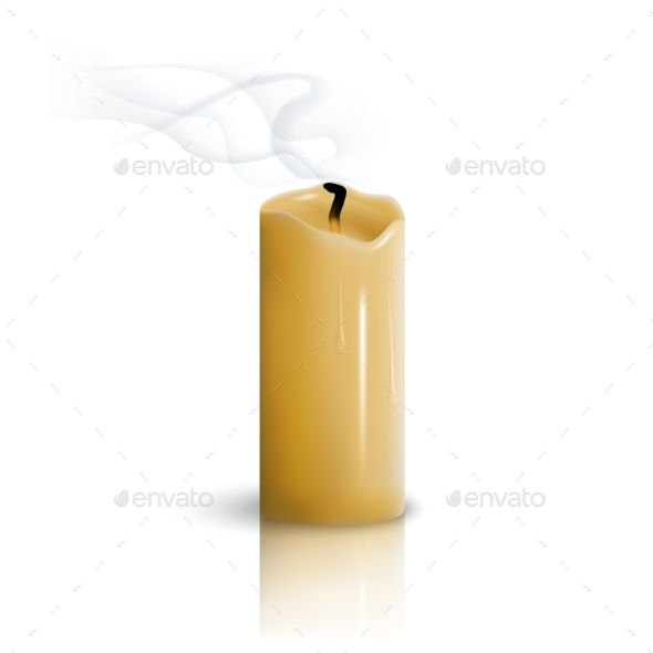Extinguished Candle - Man-made Objects Objects
