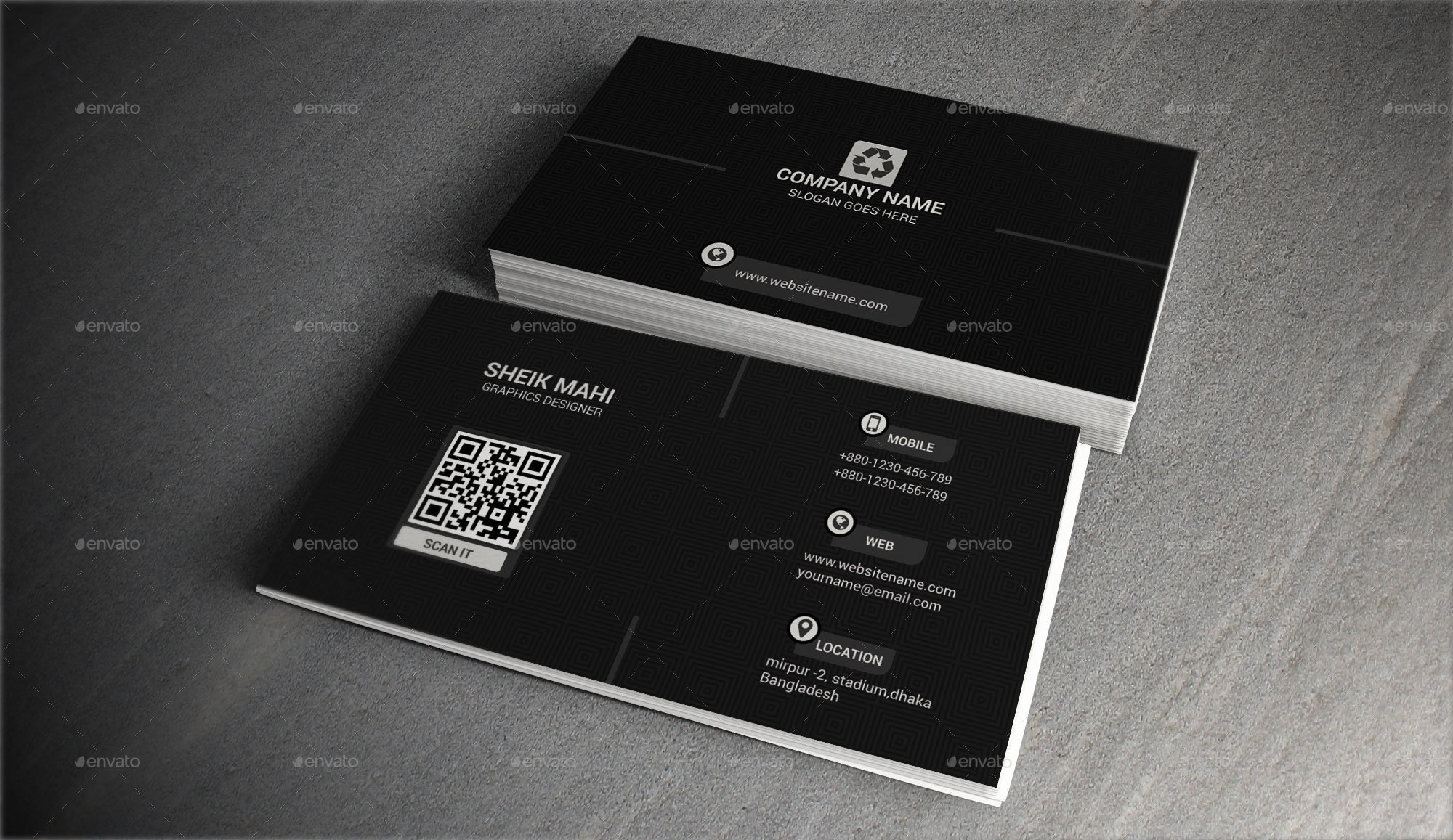 Creative Business Card -1 by sk_mahi   GraphicRiver
