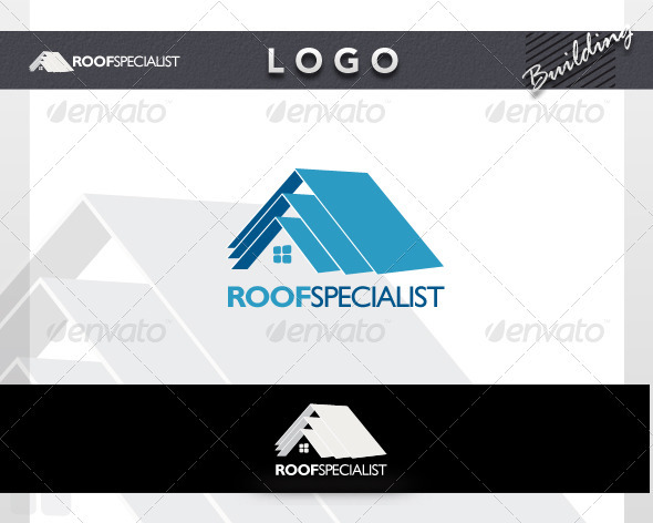 Roof Specialist Logo - Buildings Logo Templates