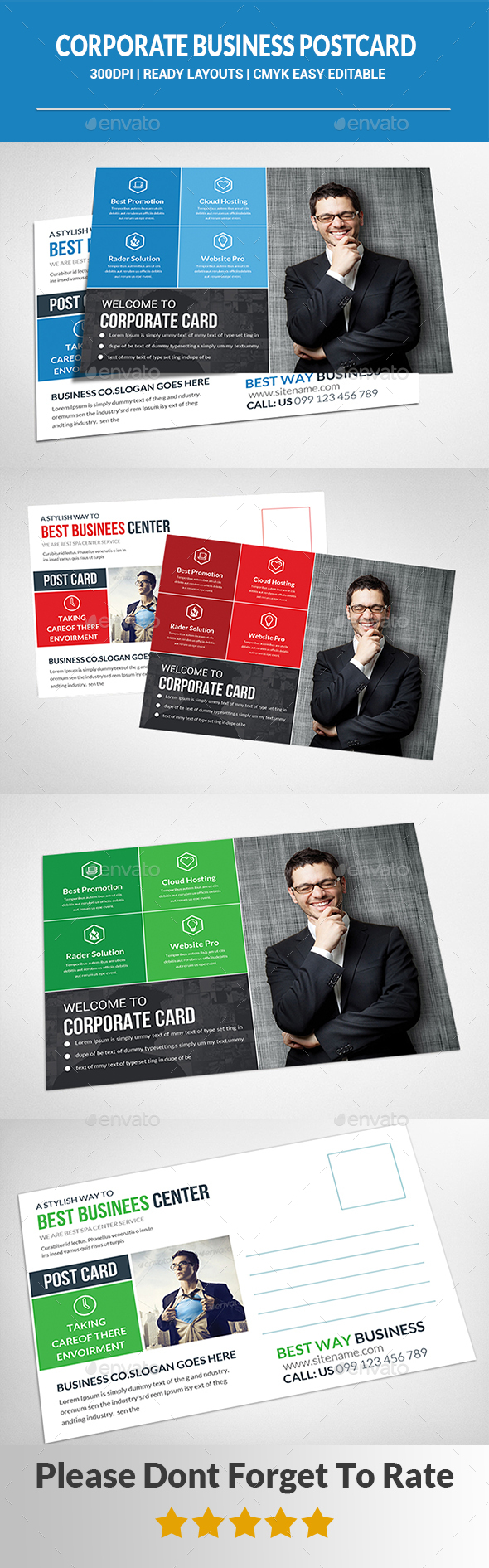 Corporate business postcard template by afjamaal graphicriver corporate business postcard template cards invites print templates wajeb Gallery