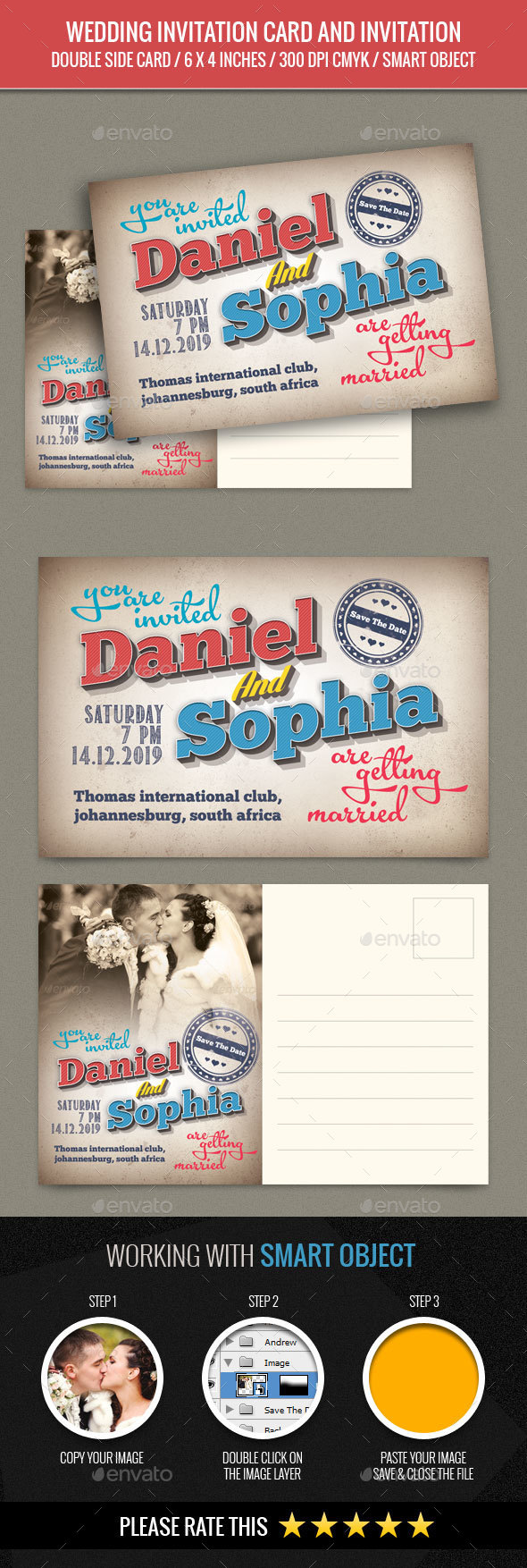 Wedding Invitation Post Card - Weddings Cards & Invites