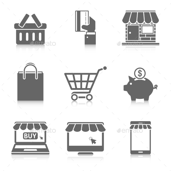 Online Shopping Icons Set - Business Icons