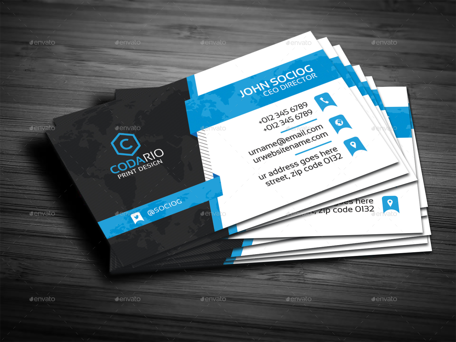 Fancy Graphicriver Business Card Composition - Business Card Ideas ...