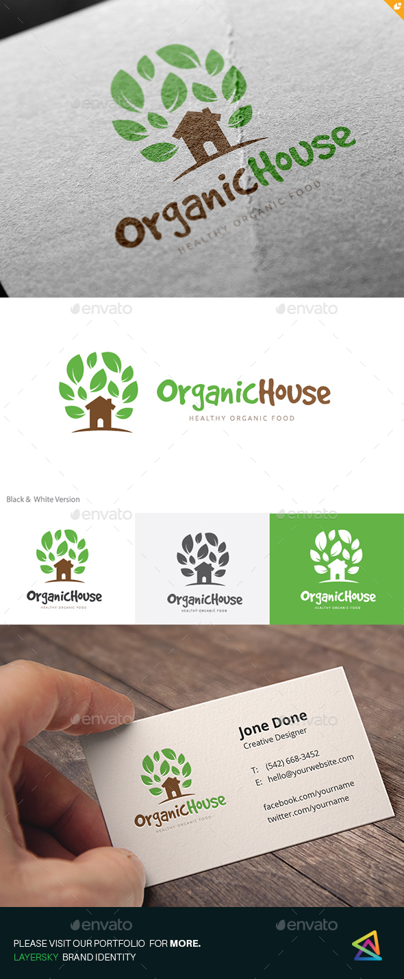 Organic House - Buildings Logo Templates