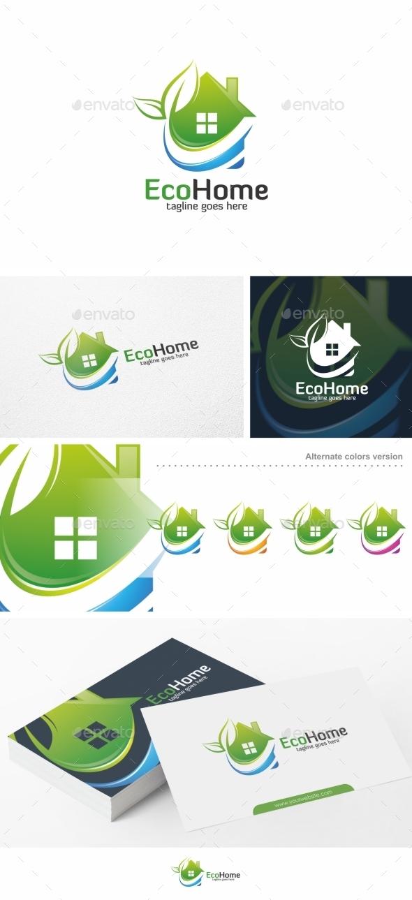 Eco Home / House - Logo Template - Buildings Logo Templates