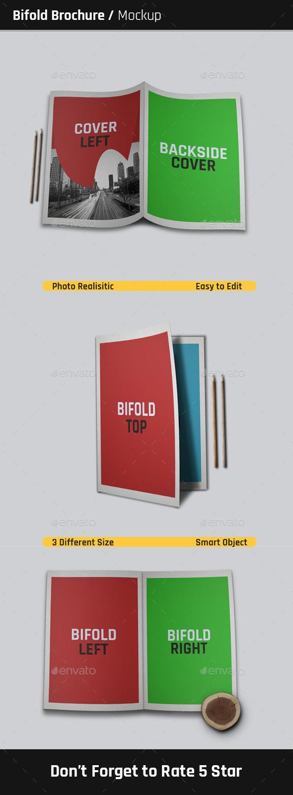 Bifold Brochure Mock-Ups  - Brochures Print