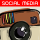 Illustrative Social Media Buttons - GraphicRiver Item for Sale