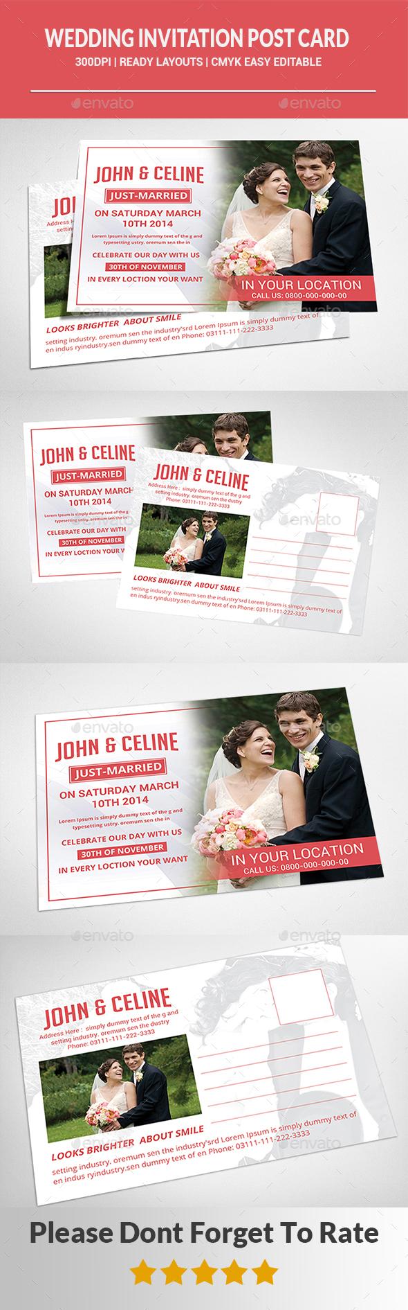 Wedding Invitation Card - Cards & Invites Print Templates