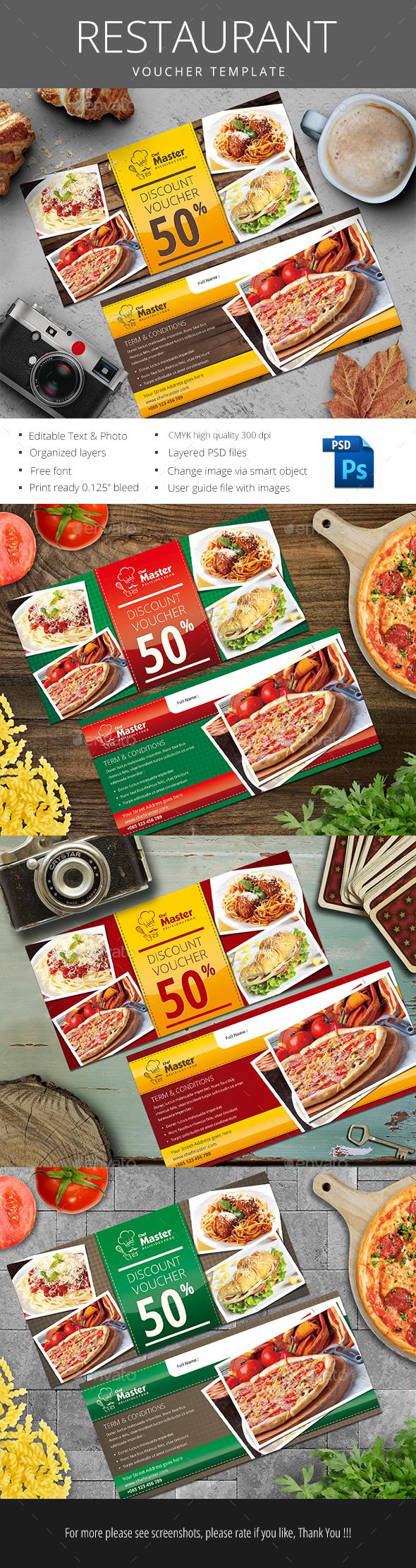 Restaurant Gift Voucher - Loyalty Cards Cards & Invites