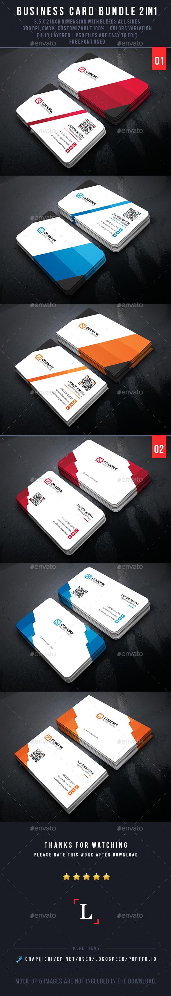 Business Cards Bundle - Business Cards Print Templates