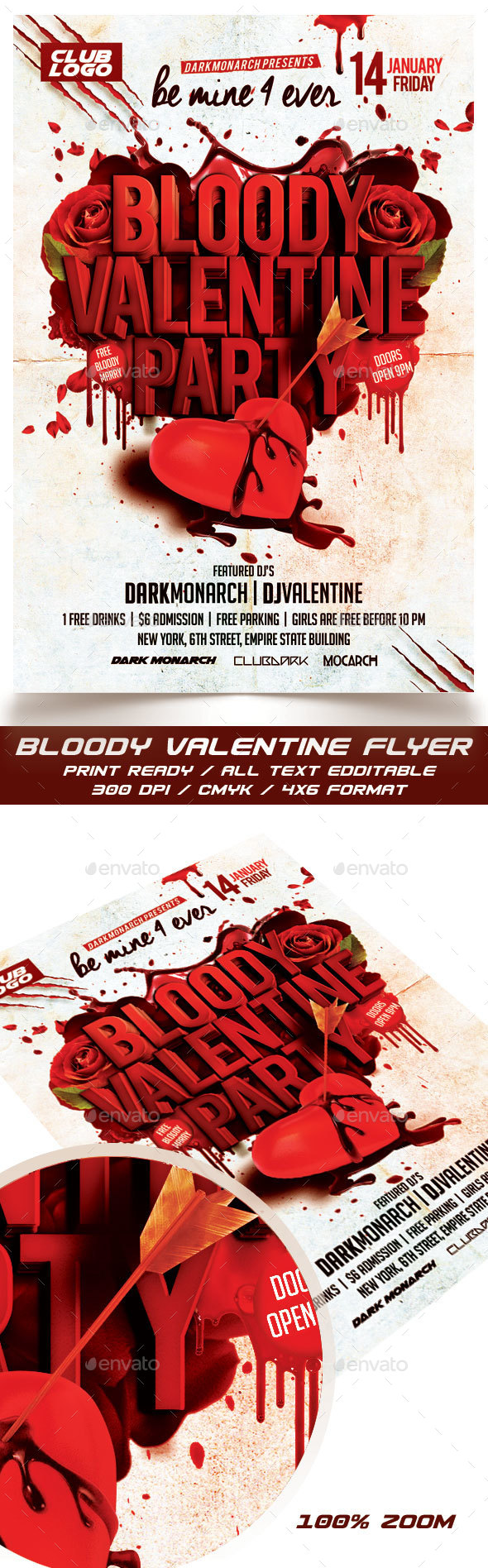Bloody Valentine Party - Events Flyers