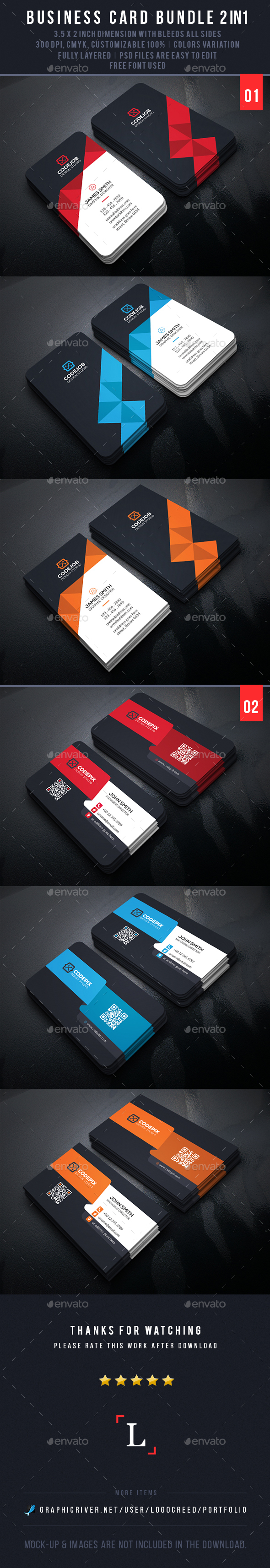 Soft Business Card Bundle - Business Cards Print Templates