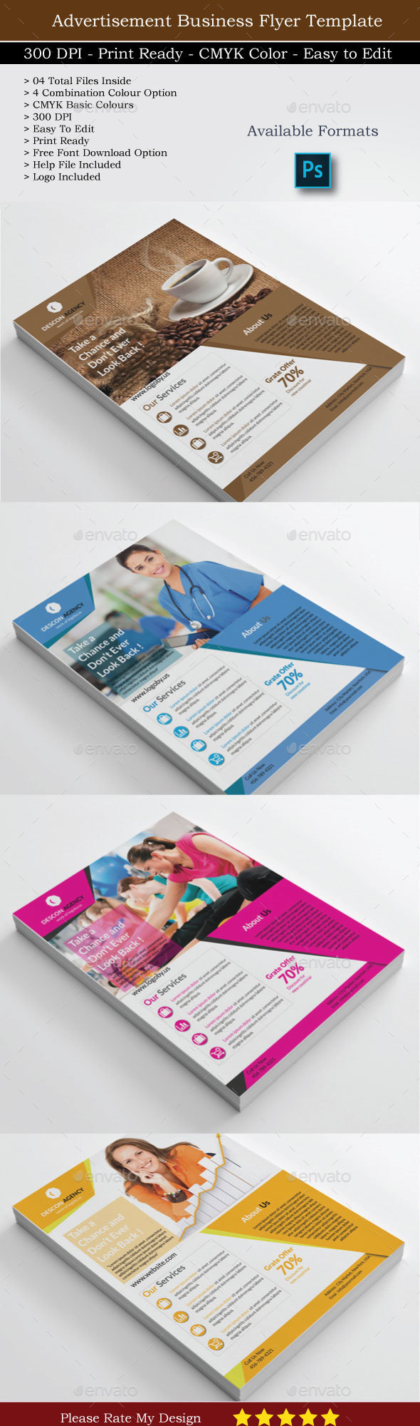 Flyer Template for Business - Flyers Print Templates