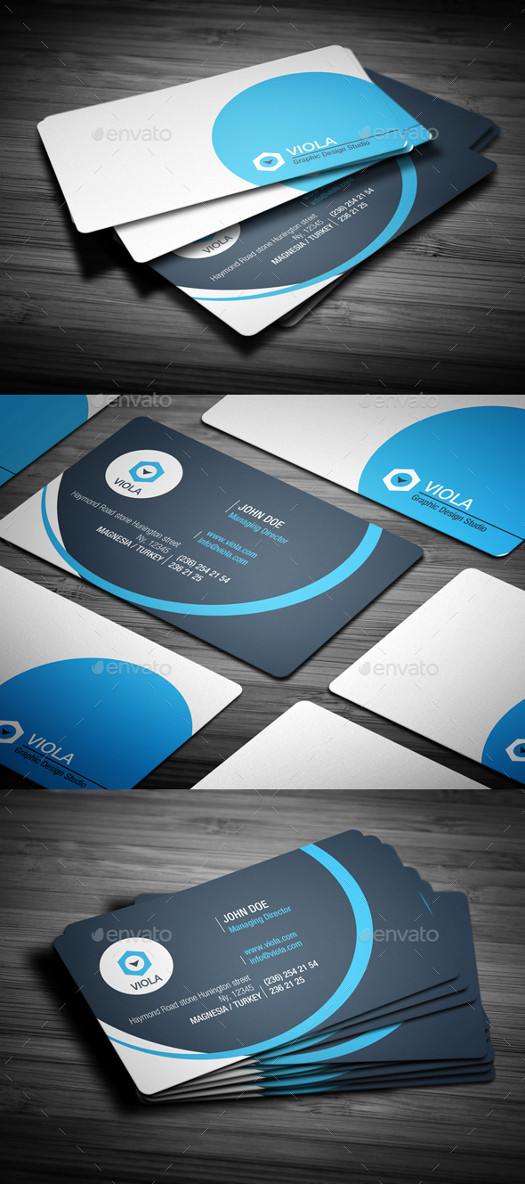 Blue Creative Business Card - Creative Business Cards