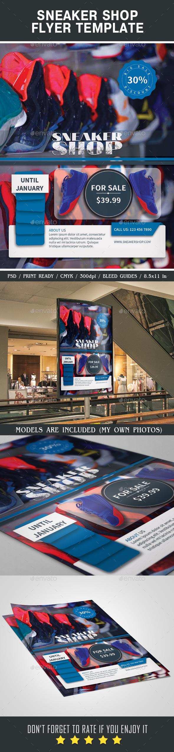 Sneaker Shop Flyer - Miscellaneous Events
