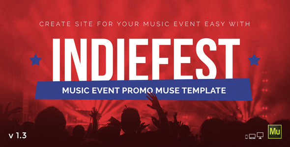 IndieFest – Music Event / Party / Festival Promo Muse Template