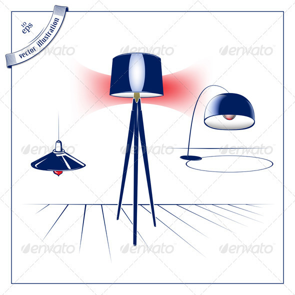 Modern Lamp Set - Man-made Objects Objects