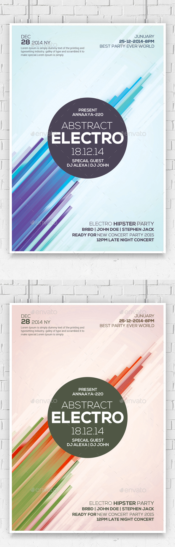 Abstract Flyer Psd - Clubs & Parties Events