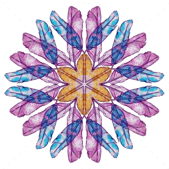 Mandala Round Ornament Pattern - Patterns Decorative