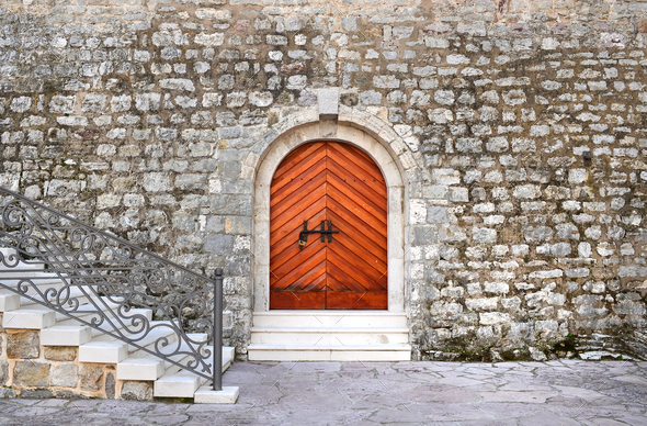 Ancient entrance to the historical building of the citadel in th - Stock Photo - Images