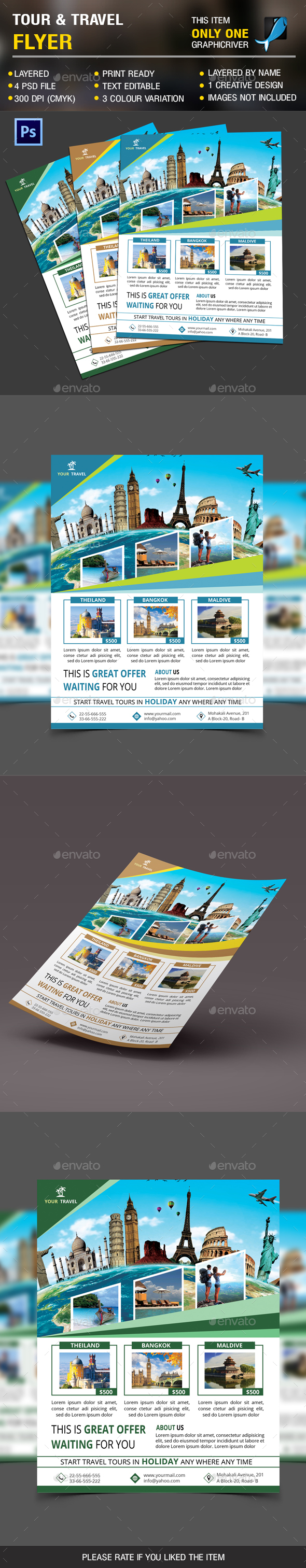 Holiday Travel Flyer Vol 2 - Holidays Events