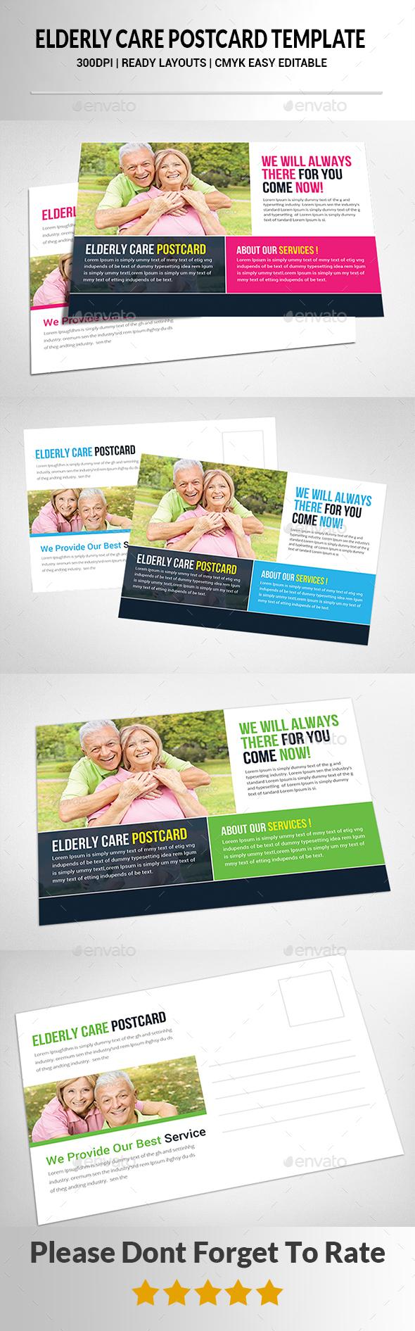 Home Health Postcard Template  - Cards & Invites Print Templates