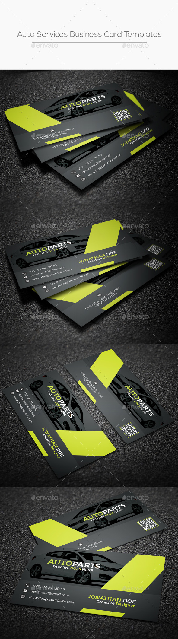 Auto Services Business Card Templates by designsoul14 | GraphicRiver