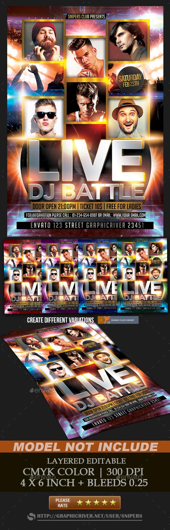 Live Dj Battle - Events Flyers
