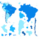South America Map and Country Contours - GraphicRiver Item for Sale